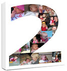 Personalised Photo Number Collage Canvas Bold Print