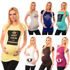 New Ladies Printed Maternity Tops T-Shirts Pregnancy Designs, Colours, Sizes