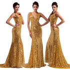 Long Womens Designer Sexy Bridesmaids Formal Ball Gown Evening Prom Party Dress
