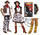 Cowboy Cowgirl Adult Fancy Dress Western Costume Gun Bullet Belt Bull Whip Boots