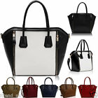 Womens Ladies Designer Celebrity Tote Bags Faux Leather Smile Shoulder Handbags