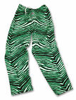 Zubaz Pants: Black/Neon Green Zubaz Zebra Pants- New