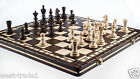 Brand New♞ Hand Crafted Wooden Chess And Draughts Set3 36cm x 36cm ♚