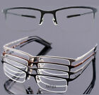Men's Pure Titanium Nickel Free Eyeglass Frames Glasses Half rimless Optical Rx