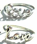 925 Sterling Silver Love Ring, Size L - R