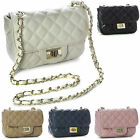 Big Handbag Shop New Trendy Small Gold Chain Quilted Womens Shoulder Purse Bag