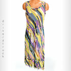 SIMPLY VERA WANG MULTI-COLOR Chiffon HI LO DRESS Maxi BRUSHSTROKE Print XS S M