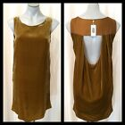 DRESS, Swedish design, 'Twist & Tango', Velour, Mustard, NEW w Tags, XS NWT