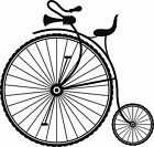 A Victorian Bicycle a Vinyl Wall Art Sticker in 5 Sizes & 24 Colours