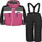 LOVELY TRESPASS SUMACO GIRLS PINK 2 PIECE KIDS ALL IN ONE SKI SNOW SUIT 3-10YRS