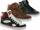 MENS BOYS CASUAL ANKLE HI HIGH BASEBALL LACE UP SHOES BOOTS SIZE 6- 11