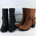 Women PUNK Lace Up Zip Side Motorcycle Riding Short Boots Black 2013#