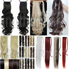 UK Low Price Top Wrap Around Clip In On Ponytail Pony tail Hair Extensions Piece