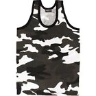 URBAN MILITARY CAMO VEST TOP 100% COTTON MENS BRITISH ARMY FISHING HIKING PARA