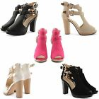 WOMENS CELEB STYLE PEEP TOE CUT OUT PLATFORM DOUBLE BUCKLE STRAP FASHION SANDALS