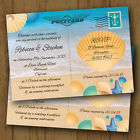Personalised Beach Wedding Invitations Day / Evening *Seaside Beach Postcard