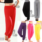 AU SELLER Casual Womens Harem Hippe Dance Sports Yoga Jersey Beach Pants P127