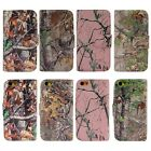 PU Leather Camo Card Holder Pouch Stand Cover Wallet Hybrid Case For iPhone 5C