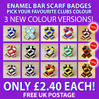 ENAMEL SCARF PIN BADGE FOR FOOTBALL, RUGBY LEAGUE & RUGBY UNION FANS