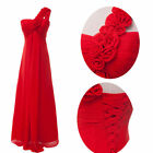 Sexy One Shoulder Chiffon Prom Formal Evening Party Cocktail Full-Length Dresses