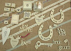 SHABBY CHIC EAST OF INDIA WEDDING COLLECTION GIFT SET RUBBER STAMP RIBBON TOKEN