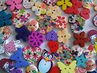 Pack of 12 Wooden Buttons ♥ Sew Craft Scrapbooking Cardmaking ♥ Lots of Designs