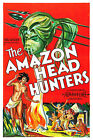 AMAZON HEAD HUNTERS Movie POSTER Horror 80's VHS Art