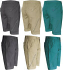 "New Mens Plain Flat Front Turn-Up Summer Chino Shorts Zip Fly Pants 28"" - 38"""