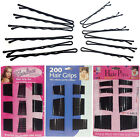 Salon Hair Styling Black Hair Pins Grips Bobby Clips Kirby Pins Curl Slide