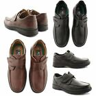 NEW MENS CASUAL SMART FORMAL WORK OFFICE VELCRO FASTENING GENTS SHOES UK SIZE