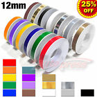"12mm 1/2"" PinStripe PinStriping SINGLE Steamline PIN TAPE Decals Vinyl STICKERS"