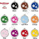 Red Dingo STARS Engraved Dog ID Pet Tag / Charm - Stainless Steel & Enamel