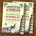 Rome / Italy Themed Personalised Wedding Invitations - Day or Evening