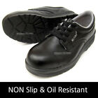 New Men Chef Shoes Black Safety Work Shoes Steel Toe Cap Non-Slip Oil Resistant