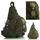 New Combat Army Colours Monostrap Cross Body Messenger School Backpack Rucksack