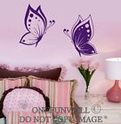 1 Set of 2 Colorful Butterflies Vinyl Wall Decal Sticker Decor Choose ONE Color