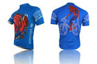 XINTOWN Spider-man Men's Cool Cycling Short Sleeve Sports Bike Clothes Jersey
