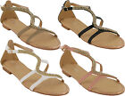 WOMENS LADIES BUCKLE FLAT SUMMER CAUSAL OPEN TOE BEACH SANDALS SHOES SIZES