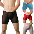 CHEAPEST See-Throug Mens Boxer Briefs Trunks Underwear Home Sports Bottom Shorts