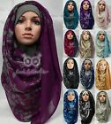 Maxi OMBRE Flower Floral Print Large Scarf/Hijab/Shawl/Wrap/Sarong/Stole Plain