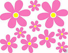 20 X Flowers Daisy Wall Car Vinyl Stickers Any Colour Petal/any Colour Centre