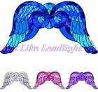 8x TRANSPARENT PRE-CUT ANGEL WING #2 for craft crystal suncatcher 3d  angels
