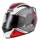 VCAN V122 RED DRAGON MOTORCYCLE MOTORBIKE BIKE SCOOTER HELMET WITH ACU GOLD