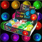 1 6 12 24 Flashing Bouncy Spike Balls Lucky Dip Kids Party Bag Birthday Fillers