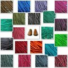 Round Wax Cotton Thin Shoe Laces 2.5mm 4 lengths Waxed For Dress Shoes Brogues