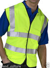 HI VIS HIGH VIZ VISIBILITY VEST WAISTCOAT EN471 CLASS 2 WORKWEAR YELLOW & ORANGE
