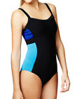 MARKS AND SPENCERS M&S LADIES BLACK TEAL TUMMY CONTROL SWIMSUIT NEW 12 16 18 22