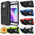 New 5 Colors Shock Proof Defender Stand Skin Case Cover For HTC One M8