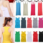 New Basic Women's Solid Tank Top Racer Back Cami Vest No Sleeve T-Shirt 37 Types