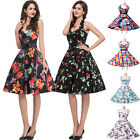 PLUS Vintage 1950's Housewife Swing Rockabilly Cocktail Evening Gown Party Dress